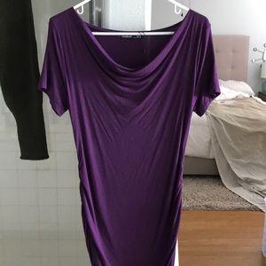PattyBoutik Dresses - Mama Cowl neck maternity dress